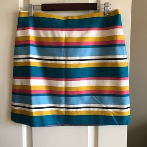Loft colourful striped mini skirt sz 12